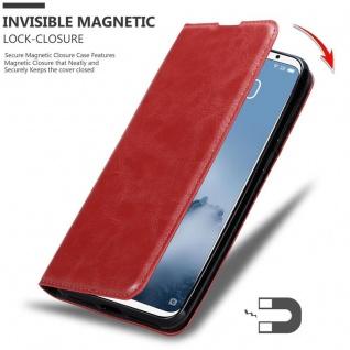 Cadorabo Hülle für MEIZU 16 in APFEL ROT Handyhülle mit Magnetverschluss, Standfunktion und Kartenfach Case Cover Schutzhülle Etui Tasche Book Klapp Style - Vorschau 3