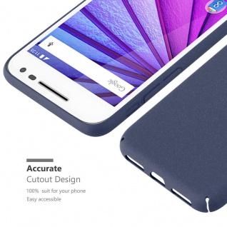 Cadorabo Hülle für Motorola MOTO G3 in FROSTY BLAU - Hardcase Handyhülle aus Plastik gegen Kratzer und Stöße - Schutzhülle Bumper Ultra Slim Back Case Hard Cover - Vorschau 5