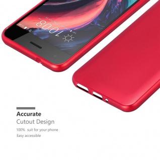 Cadorabo Hülle für HTC Desire 10 PRO in METALLIC ROT - Handyhülle aus flexiblem TPU Silikon - Silikonhülle Schutzhülle Ultra Slim Soft Back Cover Case Bumper - Vorschau 5