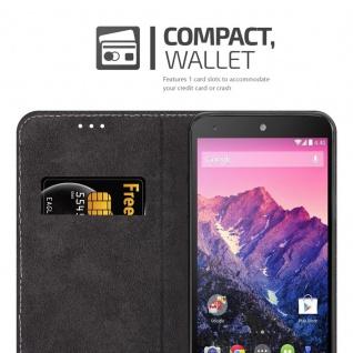 Cadorabo Hülle für LG NEXUS 5 in ROSÉ GOLD SCHWARZ ? Handyhülle mit Magnetverschluss, Standfunktion und Kartenfach ? Case Cover Schutzhülle Etui Tasche Book Klapp Style - Vorschau 3