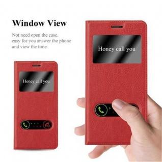 Cadorabo Hülle für Nokia 5 2017 in SAFRAN ROT - Handyhülle mit Magnetverschluss, Standfunktion und 2 Sichtfenstern - Case Cover Schutzhülle Etui Tasche Book Klapp Style - Vorschau 2