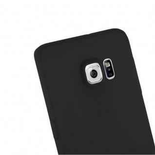 Cadorabo Hülle für Samsung Galaxy S6 EDGE PLUS in CANDY SCHWARZ - Handyhülle aus flexiblem TPU Silikon - Silikonhülle Schutzhülle Ultra Slim Soft Back Cover Case Bumper - Vorschau 5