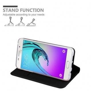 Cadorabo Hülle für Samsung Galaxy A5 2016 in CLASSY SCHWARZ - Handyhülle mit Magnetverschluss, Standfunktion und Kartenfach - Case Cover Schutzhülle Etui Tasche Book Klapp Style - Vorschau 4