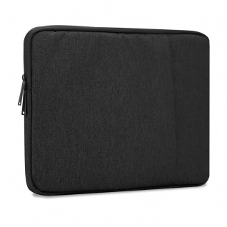 Cadorabo Laptop / Tablet Tasche 15, 6'' Zoll in SCHWARZ ? Notebook Computer Tasche aus Stoff mit Samt-Innenfutter und Fach mit Anti-Kratz Reißverschluss ? Schutzhülle Sleeve Case
