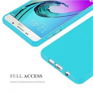 Cadorabo Hülle für Samsung Galaxy A5 2015 in JELLY HELL BLAU - Handyhülle aus flexiblem TPU Silikon - Silikonhülle Schutzhülle Ultra Slim Soft Back Cover Case Bumper - Vorschau 4