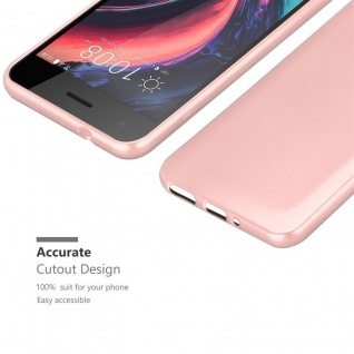 Cadorabo Hülle für HTC Desire 10 PRO in METALLIC ROSÉ GOLD - Handyhülle aus flexiblem TPU Silikon - Silikonhülle Schutzhülle Ultra Slim Soft Back Cover Case Bumper - Vorschau 5