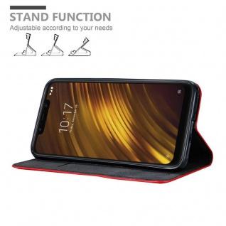Cadorabo Hülle für Xiaomi Pocophone F1 in APFEL ROT Handyhülle mit Magnetverschluss, Standfunktion und Kartenfach Case Cover Schutzhülle Etui Tasche Book Klapp Style - Vorschau 4