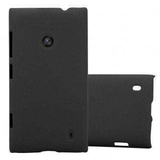 Cadorabo Hülle für Nokia Lumia 520 in FROSTY SCHWARZ - Hardcase Handyhülle aus Plastik gegen Kratzer und Stöße - Schutzhülle Bumper Ultra Slim Back Case Hard Cover