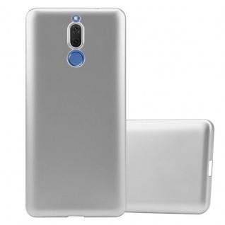 Cadorabo Hülle für Huawei MATE 10 LITE in METALLIC SILBER - Handyhülle aus flexiblem TPU Silikon - Silikonhülle Schutzhülle Ultra Slim Soft Back Cover Case Bumper