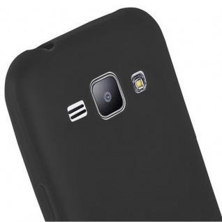 Cadorabo Hülle für Samsung Galaxy J1 2015 in CANDY SCHWARZ - Handyhülle aus flexiblem TPU Silikon - Silikonhülle Schutzhülle Ultra Slim Soft Back Cover Case Bumper - Vorschau 5