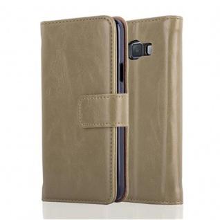 Cadorabo Hülle für Samsung Galaxy A3 2015 in CAPPUCINO BRAUN - Handyhülle mit Magnetverschluss, Standfunktion und Kartenfach - Case Cover Schutzhülle Etui Tasche Book Klapp Style - Vorschau 2
