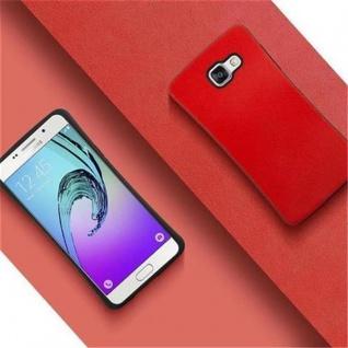 Cadorabo Hülle für Samsung Galaxy A3 2016 - Hülle in FLAMMEN ROT ? Small Waist Handyhülle mit rutschfestem Gummi-Rücken - Hard Case TPU Silikon Schutzhülle - Vorschau 2