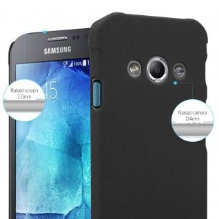 Cadorabo Hülle für Samsung Galaxy XCover 3 in FROSTY SCHWARZ - Hardcase Handyhülle aus Plastik gegen Kratzer und Stöße - Schutzhülle Bumper Ultra Slim Back Case Hard Cover - Vorschau 4