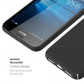 Cadorabo Hülle für Nokia Lumia 950 XL in FROSTY SCHWARZ - Hardcase Handyhülle aus Plastik gegen Kratzer und Stöße - Schutzhülle Bumper Ultra Slim Back Case Hard Cover - Vorschau 5