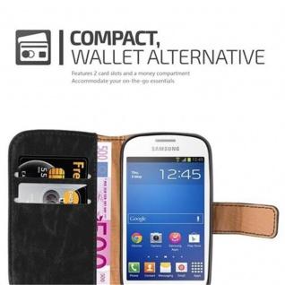 Cadorabo Hülle für Samsung Galaxy TREND LITE in GRAPHIT SCHWARZ ? Handyhülle mit Magnetverschluss, Standfunktion und Kartenfach ? Case Cover Schutzhülle Etui Tasche Book Klapp Style - Vorschau 3