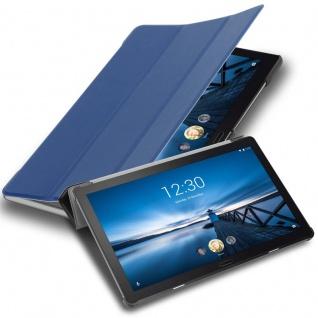 """Cadorabo Tablet Hülle für Lenovo Tab P10 (10, 1"""" Zoll) in JERSEY DUNKEL BLAU Ultra Dünne Book Style Schutzhülle mit Auto Wake Up und Standfunktion aus Kunstleder"""