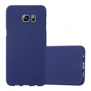 Cadorabo Hülle für Samsung Galaxy S6 EDGE PLUS in FROST DUNKEL BLAU Handyhülle aus flexiblem TPU Silikon Silikonhülle Schutzhülle Ultra Slim Soft Back Cover Case Bumper