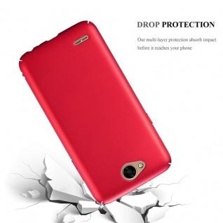 Cadorabo Hülle für LG X Power 2 in METALL ROT ? Hardcase Handyhülle aus Plastik gegen Kratzer und Stöße ? Schutzhülle Bumper Ultra Slim Back Case Hard Cover - Vorschau 3