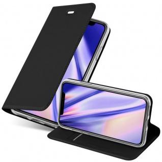 Cadorabo Hülle für Apple iPhone XS MAX in CLASSY SCHWARZ - Handyhülle mit Magnetverschluss, Standfunktion und Kartenfach - Case Cover Schutzhülle Etui Tasche Book Klapp Style