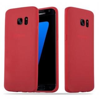 Cadorabo Hülle für Samsung Galaxy S7 EDGE in CANDY ROT - Handyhülle aus flexiblem TPU Silikon - Silikonhülle Schutzhülle Ultra Slim Soft Back Cover Case Bumper