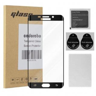 Cadorabo Vollbild Panzer Folie für Samsung Galaxy S6 EDGE PLUS - Schutzfolie in TRANSPARENT mit SCHWARZ - Gehärtetes (Tempered) Display-Schutzglas in 9H Härte mit 3D Touch Kompatibilität