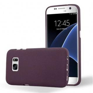 Cadorabo Hülle für Samsung Galaxy S7 in FROST BORDEAUX LILA - Handyhülle aus flexiblem TPU Silikon - Silikonhülle Schutzhülle Ultra Slim Soft Back Cover Case Bumper