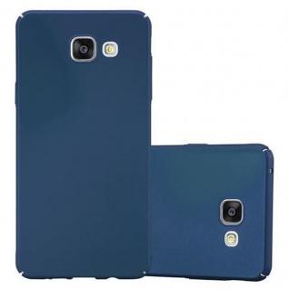 Cadorabo Hülle für Samsung Galaxy A3 2016 in METALL BLAU Hardcase Handyhülle aus Plastik gegen Kratzer und Stöße Schutzhülle Bumper Ultra Slim Back Case Hard Cover