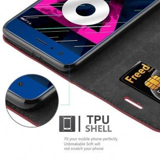 Cadorabo Hülle für Honor 9 in APFEL ROT Handyhülle mit Magnetverschluss, Standfunktion und Kartenfach Case Cover Schutzhülle Etui Tasche Book Klapp Style - Vorschau 2