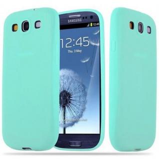 Cadorabo Hülle für Samsung Galaxy S3 / S3 NEO in CANDY BLAU - Handyhülle aus flexiblem TPU Silikon - Silikonhülle Schutzhülle Ultra Slim Soft Back Cover Case Bumper