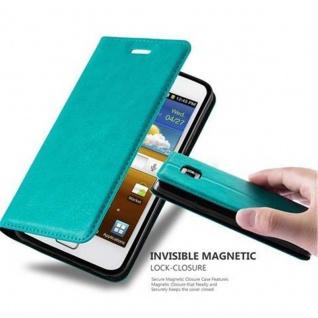 Cadorabo Hülle für Samsung Galaxy S2 / S2 PLUS in PETROL TÜRKIS - Handyhülle mit Magnetverschluss, Standfunktion und Kartenfach - Case Cover Schutzhülle Etui Tasche Book Klapp Style
