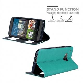 Cadorabo Hülle für HTC One M9 in MINT TÜRKIS ? Handyhülle mit Magnetverschluss, Standfunktion und 2 Sichtfenstern ? Case Cover Schutzhülle Etui Tasche Book Klapp Style - Vorschau 4