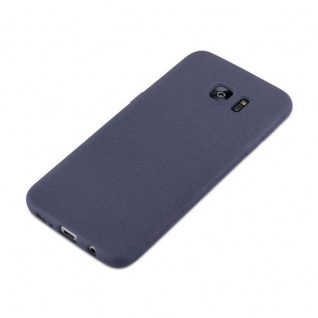 Cadorabo Hülle für Samsung Galaxy S7 EDGE in FROST DUNKEL BLAU - Handyhülle aus flexiblem TPU Silikon - Silikonhülle Schutzhülle Ultra Slim Soft Back Cover Case Bumper - Vorschau 3