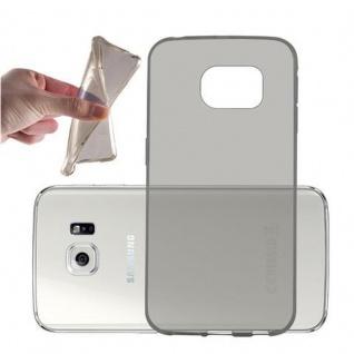 Cadorabo Hülle für Samsung Galaxy S6 EDGE in TRANSPARENT SCHWARZ - Handyhülle aus flexiblem TPU Silikon - Silikonhülle Schutzhülle Ultra Slim Soft Back Cover Case Bumper