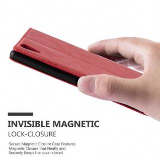 Cadorabo Hülle für Sony Xperia T3 in APFEL ROT Handyhülle mit Magnetverschluss, Standfunktion und Kartenfach Case Cover Schutzhülle Etui Tasche Book Klapp Style - Vorschau 4