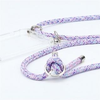 Cadorabo Handy Kette für Honor 9 in UNICORN Silikon Necklace Umhänge Hülle mit Silber Ringen, Kordel Band Schnur und abnehmbarem Etui Schutzhülle - Vorschau 2