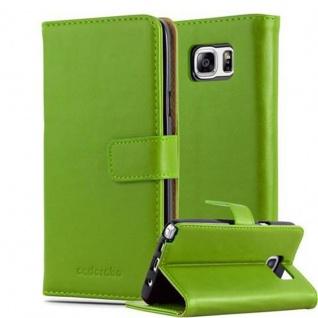 Cadorabo Hülle für Samsung Galaxy NOTE 5 in GRAS GRÜN ? Handyhülle mit Magnetverschluss, Standfunktion und Kartenfach ? Case Cover Schutzhülle Etui Tasche Book Klapp Style