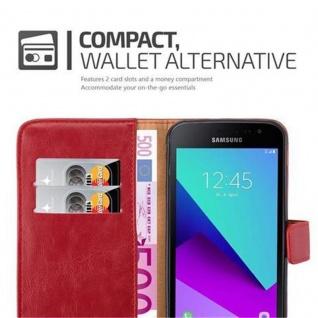 Cadorabo Hülle für Samsung Galaxy Xcover 4 in WEIN ROT ? Handyhülle mit Magnetverschluss, Standfunktion und Kartenfach ? Case Cover Schutzhülle Etui Tasche Book Klapp Style - Vorschau 4
