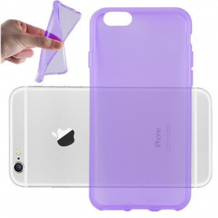 Cadorabo Hülle für Apple iPhone 6 PLUS / iPhone 6S PLUS - Hülle in TRANSPARENT LILA ? Handyhülle aus TPU Silikon im Ultra Slim 'AIR' Design - Ultra Slim Soft Backcover Case Bumper