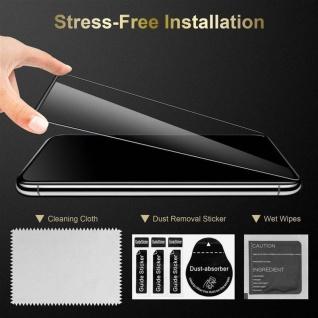 Cadorabo 3x Vollbild Panzer Folie für Apple iPhone 7 / 7S / 8 / SE 2020 - Schutzfolie in TRANSPARENT mit SCHWARZ - 3er Pack Gehärtetes (Tempered) Display-Schutzglas in 9H Härte mit 3D Touch - Vorschau 4