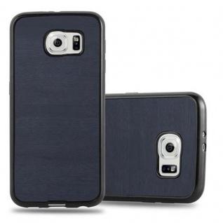 Cadorabo Hülle für Samsung Galaxy S6 in WOODEN BLAU ? Handyhülle aus flexiblem TPU Silikon ? Silikonhülle Schutzhülle Ultra Slim Soft Back Cover Case Bumper