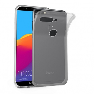 Cadorabo Hülle für Honor 7C in VOLL TRANSPARENT - Handyhülle aus flexiblem TPU Silikon - Silikonhülle Schutzhülle Ultra Slim Soft Back Cover Case Bumper