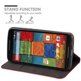 Cadorabo Hülle für Motorola MOTO X2 in APFEL ROT Handyhülle mit Magnetverschluss, Standfunktion und Kartenfach Case Cover Schutzhülle Etui Tasche Book Klapp Style - Vorschau 3