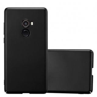 Cadorabo Hülle für Xiaomi Mi Mix 2 in METALL SCHWARZ Hardcase Handyhülle aus Plastik gegen Kratzer und Stöße Schutzhülle Bumper Ultra Slim Back Case Hard Cover