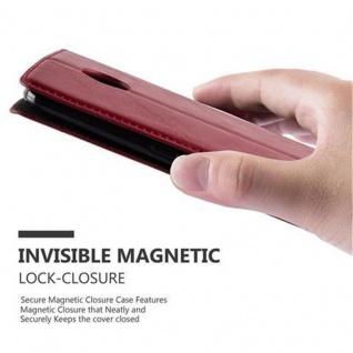 Cadorabo Hülle für Lenovo Google NEXUS 6 / 6X in APFEL ROT - Handyhülle mit Magnetverschluss, Standfunktion und Kartenfach - Case Cover Schutzhülle Etui Tasche Book Klapp Style - Vorschau 5