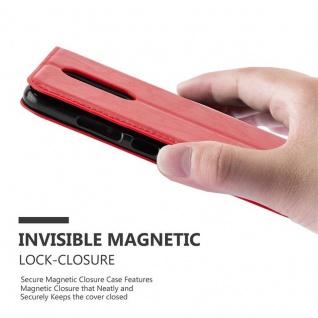 Cadorabo Hülle für WIKO UPULSE LITE in APFEL ROT Handyhülle mit Magnetverschluss, Standfunktion und Kartenfach Case Cover Schutzhülle Etui Tasche Book Klapp Style - Vorschau 4
