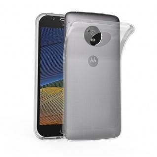 Cadorabo Hülle für Motorola MOTO G5 in VOLL TRANSPARENT - Handyhülle aus flexiblem TPU Silikon - Silikonhülle Schutzhülle Ultra Slim Soft Back Cover Case Bumper