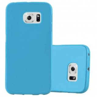 Cadorabo Hülle für Samsung Galaxy S6 EDGE in JELLY HELL BLAU - Handyhülle aus flexiblem TPU Silikon - Silikonhülle Schutzhülle Ultra Slim Soft Back Cover Case Bumper