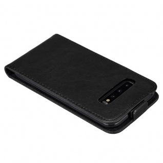 Cadorabo Hülle für Samsung Galaxy S10 in NACHT SCHWARZ - Handyhülle im Flip Design mit Magnetverschluss - Case Cover Schutzhülle Etui Tasche Book Klapp Style - Vorschau 5