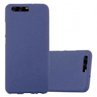 Cadorabo Hülle für Huawei P10 in FROST DUNKEL BLAU - Handyhülle aus flexiblem TPU Silikon - Silikonhülle Schutzhülle Ultra Slim Soft Back Cover Case Bumper