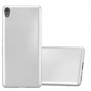 Cadorabo Hülle für Sony Xperia XA in METALLIC SILBER - Handyhülle aus flexiblem TPU Silikon - Silikonhülle Schutzhülle Ultra Slim Soft Back Cover Case Bumper